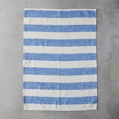 Lithuanian Linen Tea Towel, Wide Stripe