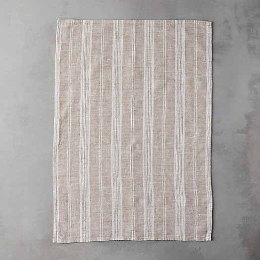 View larger image of Lithuanian Linen Tea Towel, Taupe Stripe