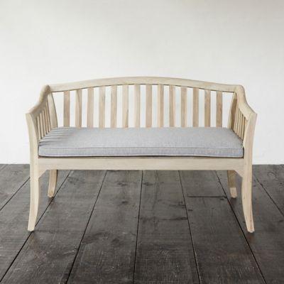 Protected Teak Two Seat Garden Sofa