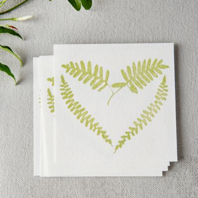 Fern Heart Notecards, Set of 6