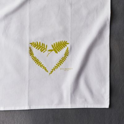 Fern Heart Tea Towel