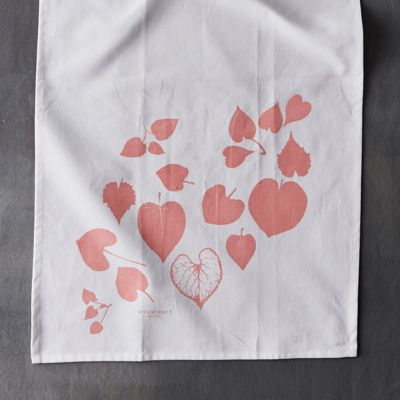Rosy Leaves Tea Towel