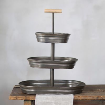 Galvanized Triple Tier Tray