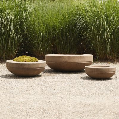 Cast Stone Wide Rim Bowl Planter