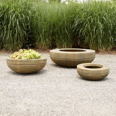 Fiber Core Wide Rim Bowl Planter