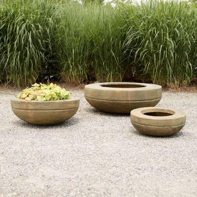 Fiber Core Wide Rim Bowl Planter