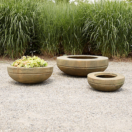 View larger image of Fiber Core Wide Rim Bowl Planter