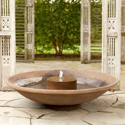 Cast Stone Shallow Bowl Fountain