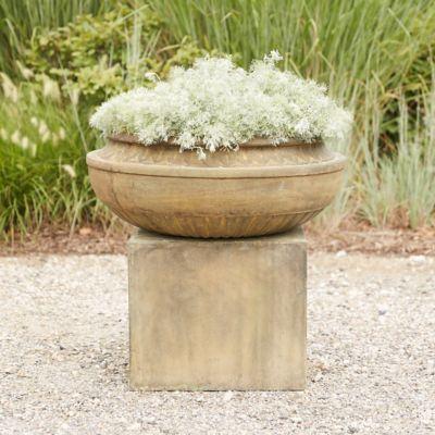 Cast Stone Bowl & Pedestal Planter