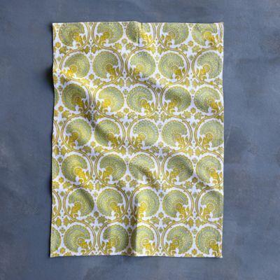 Saffron Paisley Tea Towel