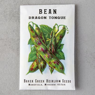 Dragon Tongue Bush Bean Seeds