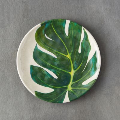 Tropical Foliage Melamine Plate