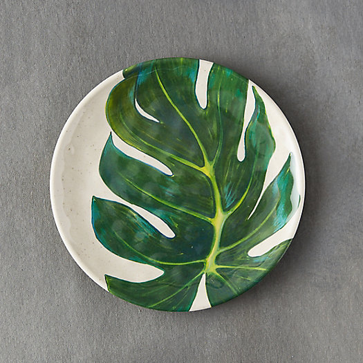 View larger image of Tropical Foliage Melamine Plate