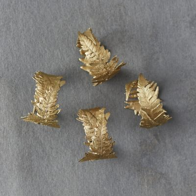 Bronze Fern Napkin Rings, Set of 4