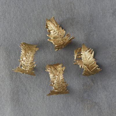 Bronze Fern Napkin Rings, Set of 4