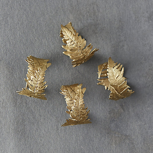 View larger image of Bronze Fern Napkin Rings, Set of 4