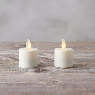 Flame Effect Tea Lights, Set of 2