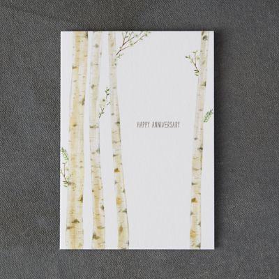 Birch Forest Anniversary Card
