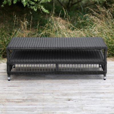 Trellis Weave All Weather Wicker Coffee Table