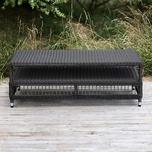 View larger image of Trellis Weave All Weather Wicker Coffee Table