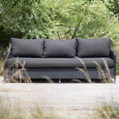 Minimalist All Weather Wicker Extra Large Sofa