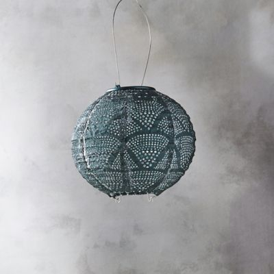 Geometric Lace Solar Lantern, Small