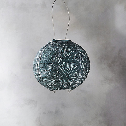 View larger image of Geometric Lace Solar Lantern, Small