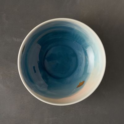 Flecked Ocean Serving Bowl