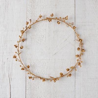 Golden Campanula Wreath