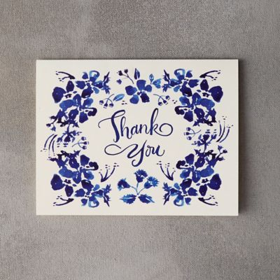 Indigo Wildflowers Thank You Card