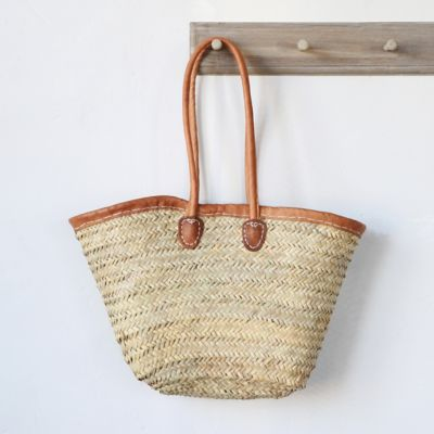 Leather Handle Market Tote