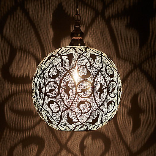 View larger image of Zenza Filigree Sphere Light, Medium