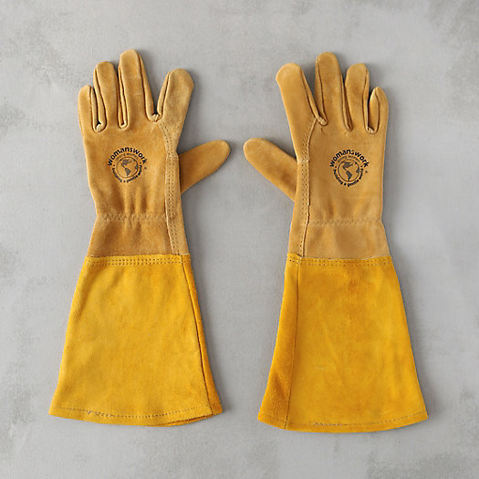 View larger image of Leather Gauntlet Garden Gloves