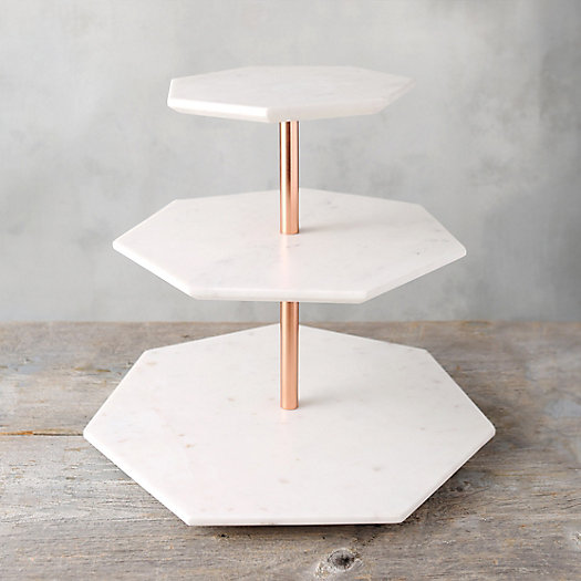 View larger image of Tiered Marble Serving Stand