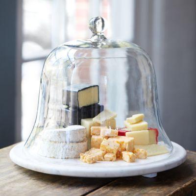 Marble & Glass Cake Cloche