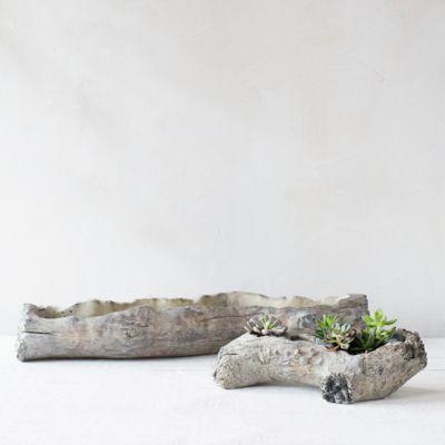 Terracotta Log Planter