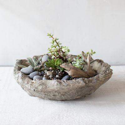 Terracotta Log Bowl Planter
