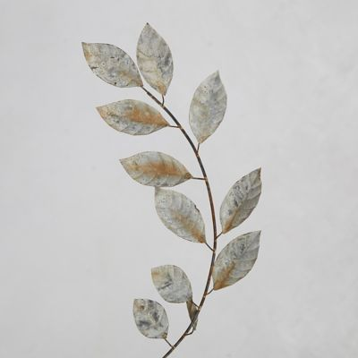 Aged Metal Laurel Branch