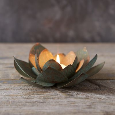 Iron Flower Votive Holder