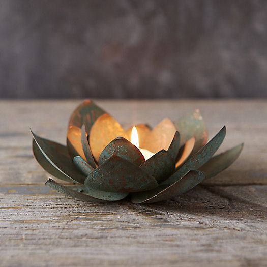 View larger image of Iron Flower Votive Holder