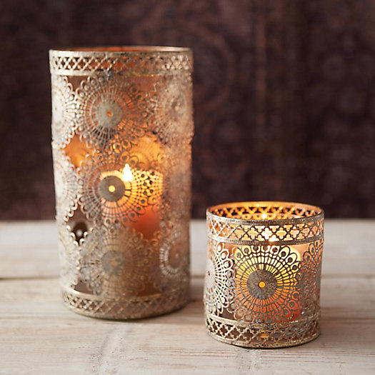 View larger image of Punched Lace Votive Holder