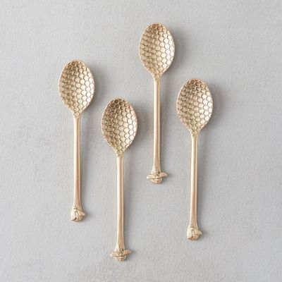 Honeycomb Spoons, Set of 4