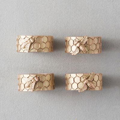 Honeycomb Napkin Rings, Set of 4