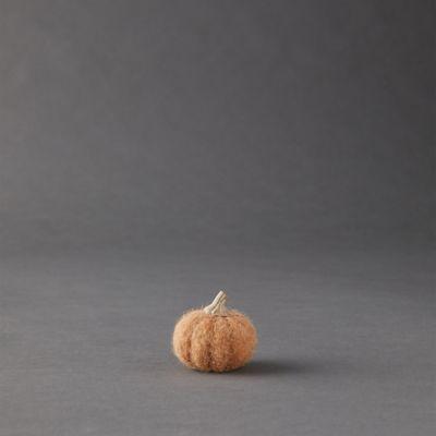 Orange Felt Mini Pumpkins, Set of 3