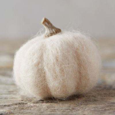 Felt Pumpkin, White