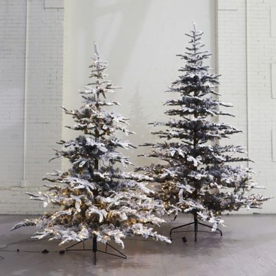 Pre-Lit LED Snowy Faux Noble Fir