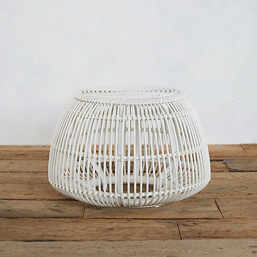 View larger image of Open Weave All Weather Wicker Pouf