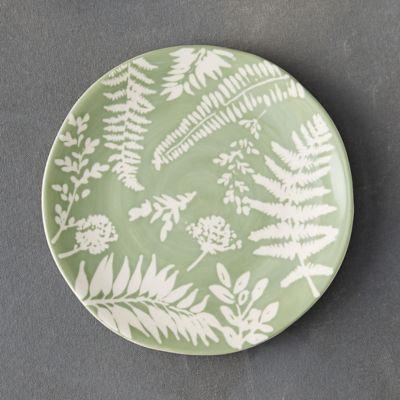 Fern Silhouette Dessert Plate