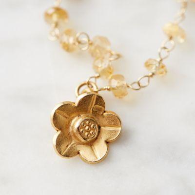 Citrine Flower Necklace