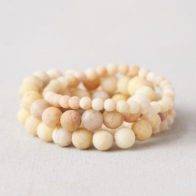 Stone Bead Bracelets, Set of 5